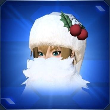 ひげ付サンタ帽
