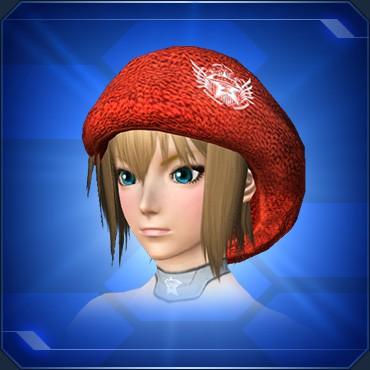 カジュアルニット帽 赤
