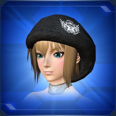 カジュアルニット帽 黒