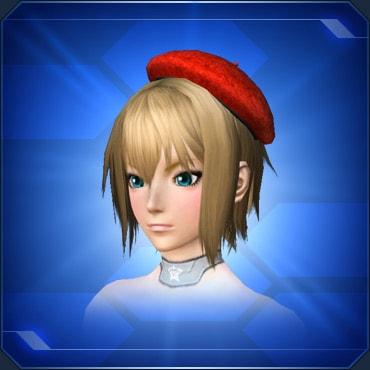 シンプルベレー帽 赤