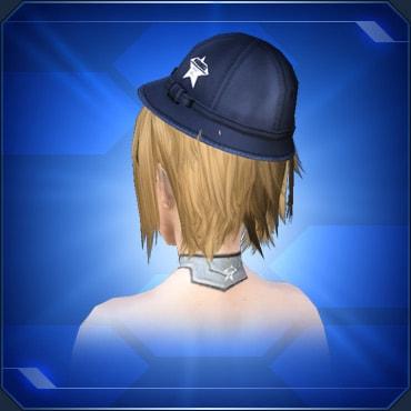 紺色通学帽