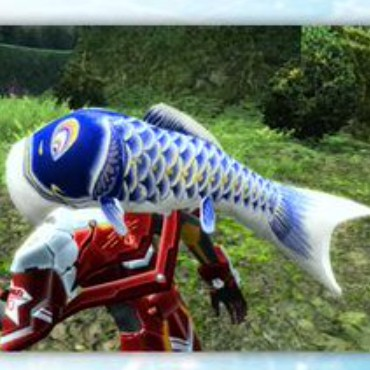鯉のぼりヘッド 青