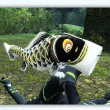 鯉のぼりヘッド 黒